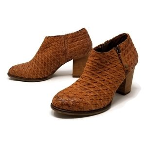 Sundance Shalimar Woven Leather Ankle Bootie 7.5